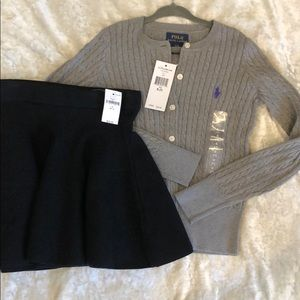 RALPH LAUREN cardigan and BONUS gap kids skirt